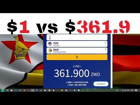 Exchange Rate USD VS ZWD (zimdollar) 1 : 361.9??? | New Zimbabwean Currency.