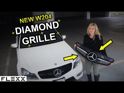 MERCEDES HOW TO: EASIEST NEW DIAMOND GRILLE INSTALL ON W204 C-CLASS