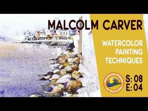 Fine art tips on How to Paint Watercolour Scenes with Malcolm Carver on Colour In Your Life