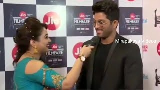 Allu Arjun speech at jio filmfare awards 2017 || Allu Arjun || Mirapakaya Videos