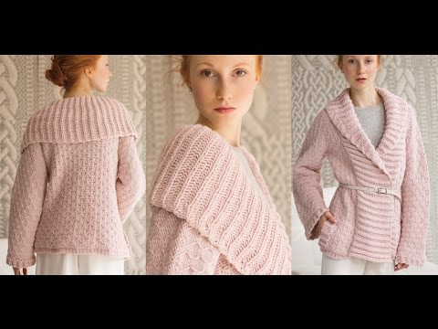 #8 Shawl-Collar Jacket, Vogue Knitting Holiday 2014 - YouTube