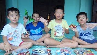 Cùng Nhau Thi Xếp Đồ Chơi Lego - Đồ chơi trẻ em - Lego rồng và Lego người sắt - Surich Toysreview