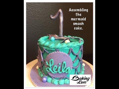 Mermaid Smash Cake Final Video YouTube