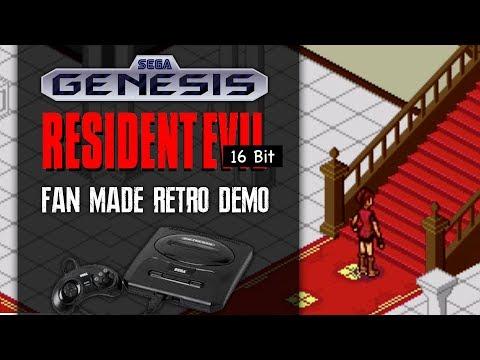 RESIDENT EVIL FOR SEGA GENESIS | Fans Create Retro 16 Bit RE1 Playable Game Demo