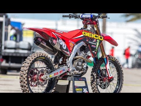 Download Youtube: Inside RJ Hampshire's Factory Geico FC Honda CRF250 - Motocross Action Magazine