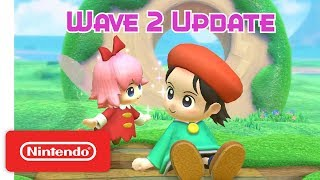 Adeleine and Ribbon from Kirby 64: The Crystal Shards make their Ki...