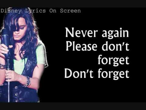 Demi Lovato - Don't Forget (Walmart Soundcheck Version) - Lyrics On Screen
