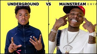 UNDERGROUND RAPPERS VS MAINSTREAM RAPPERS 🔥