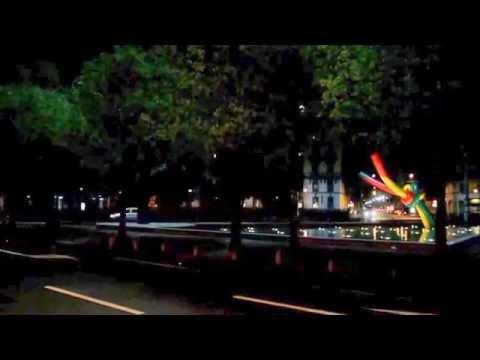 Milano piazzale Cadorna, Ago e Filo di Claes Oldenburg (videomix)