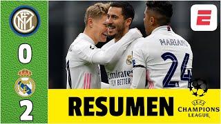 Inter 0-2 Real Madrid GOL de Hazard guió la victoria de los de Zinedine Zidane | Champions League