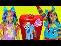 My Little Pony Surprise Toys and Halloween Costume Makeover