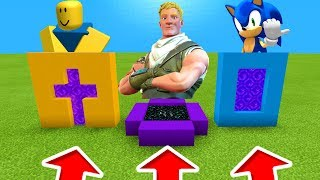 Minecraft PE : DO NOT CHOOSE THE WRONG PORTALS! (Roblox, Fortnite & Sonic)