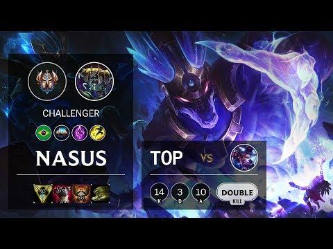 Nasus Top vs Vayne - BR Challenger Patch 10.9