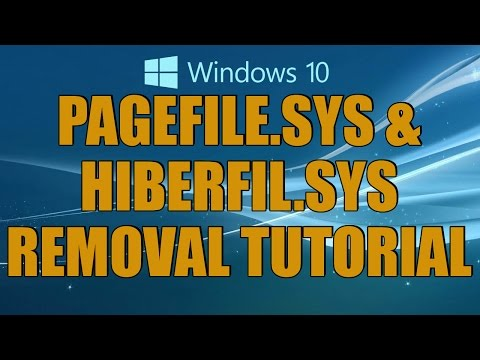 Disable The Page File And Hibernation Tutorial(Pagefile.sys & Hiberfil.sys)