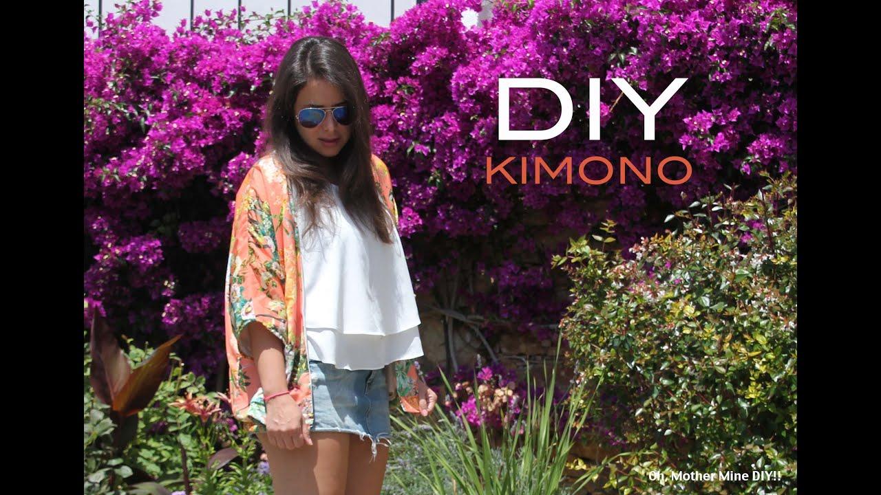 DIY Cómo hacer un kimono muy fácil (patrón gratis) - YouTube