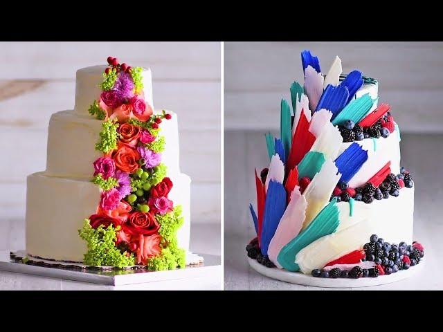 A wedding Cake thats fit for a PRINCESS | Cake Hacks | Homemade Royal Wedding Cake Ideas | So Yummy