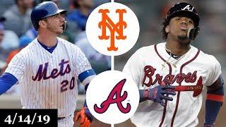 New York Mets vs Atlanta Braves Highlights   April 14, 2019