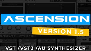 Ascension VST Synthesizer 1.5 Update