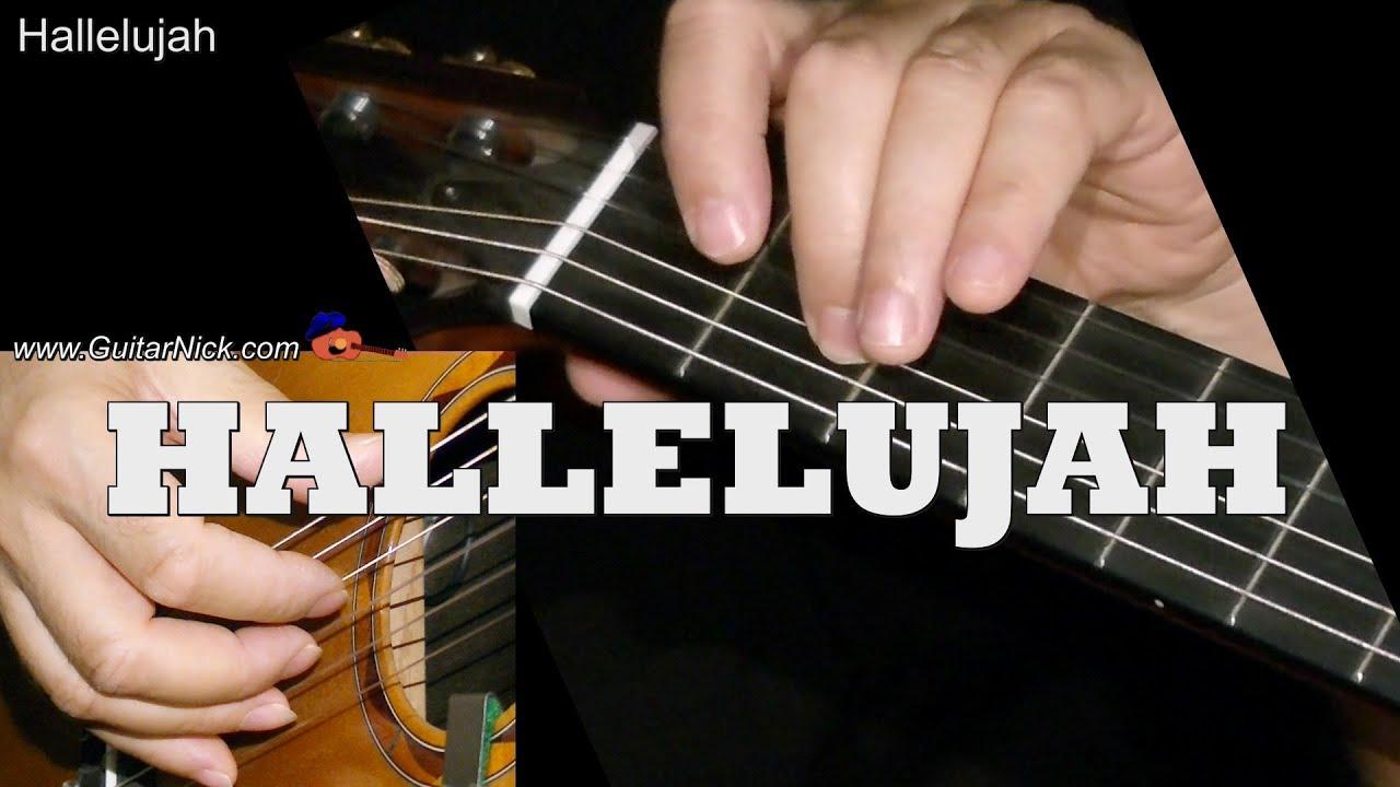 Leonard Cohen Hallelujah Easy Guitar Cover Tab Chords By