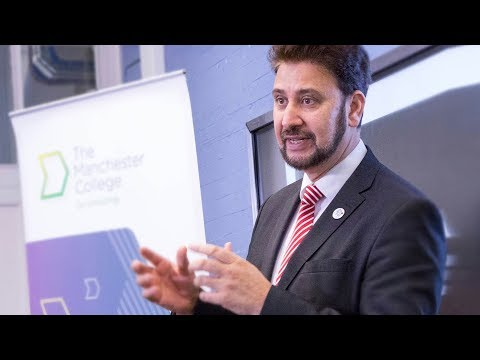 Afzal Khan MP visits The Manchester College