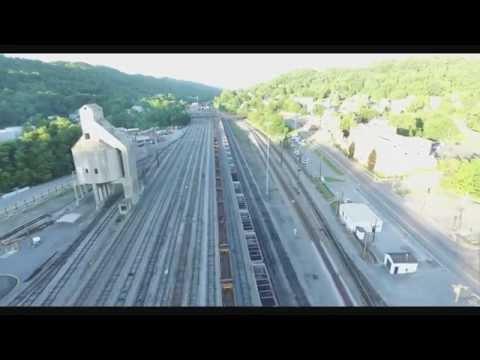 Wild Wonderful West Virginia Aerial tour of downtown Bluefield West Virginia