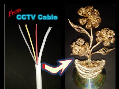 Flower making from CCTV cable   Handmade flower from copper wire  তামার তারের ফুল