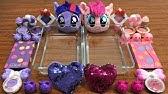 My Little Pony PINK Vs Purple Slime | Mixing Makeup Eyeshadow into Clear Slime ! Huong Slime