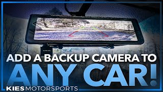 How to Install a Backup Camera in ANY Car, Truck or SUV! Even works in cars without a screen!
