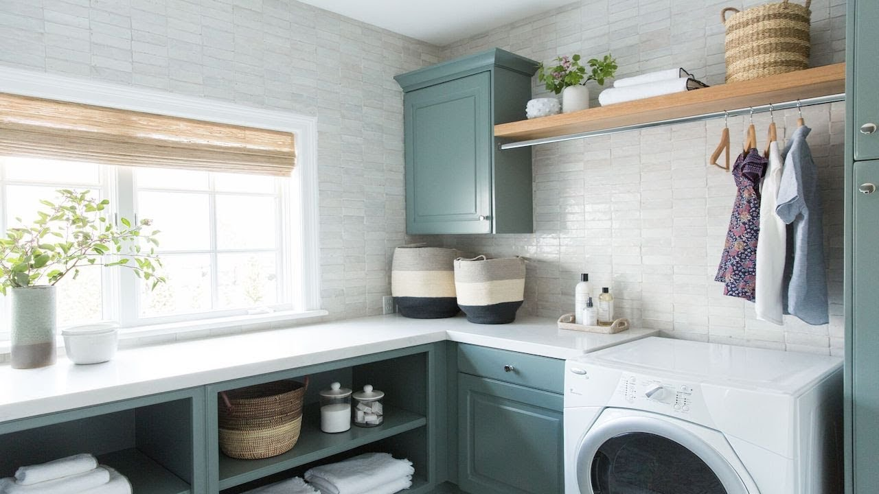 A New Classic Laundry Room Tour - YouTube