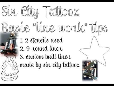 how to do tattoo outline, tattoo outline tips. line work techniques, 9 round liner