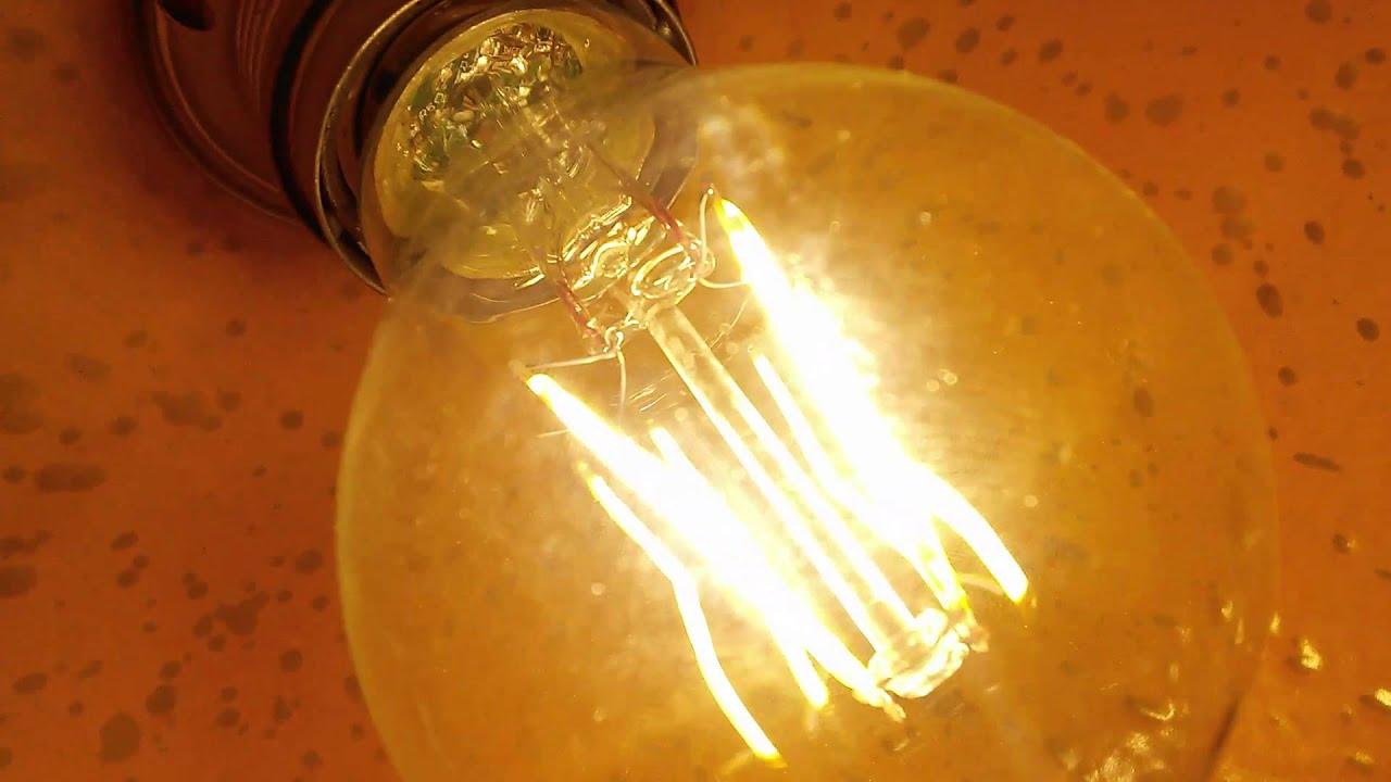 Flair Led Lampen : Flair hornbach full glas led filament bulb youtube