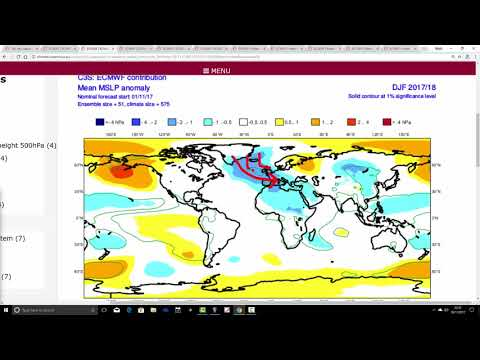ECMWF And Meteo France Seasonal Models For Winter 2017/18