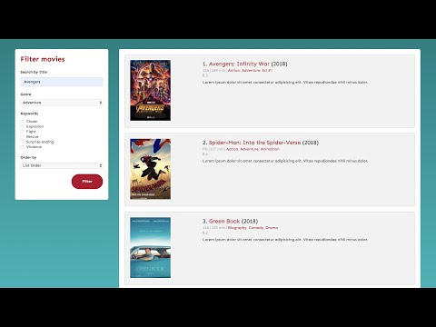 WordPress Ajax - Filter Custom Post Types - A Mockup Movie Review Page