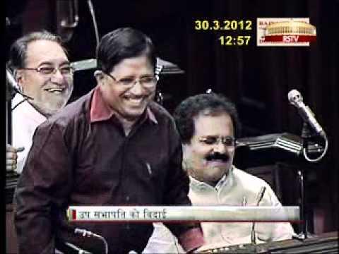 K Rahman Khan - A farewel interview as Deputy Chairman, Rajya Sabha - by Rajya Sabha TV1