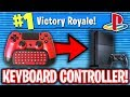 USING KEYBOARD CONTROLLER ATTACHMENT ON PS4 FORTNITE!