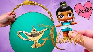 Bola Gigante de Aladdin DIY LOL Surprise!!! Jugando muñecas y juguetes con Andre para niñas y niños