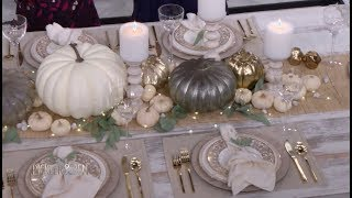 How to Create A Beautiful Fall Tablescape with DIY Pumpkins - Pickler & Ben