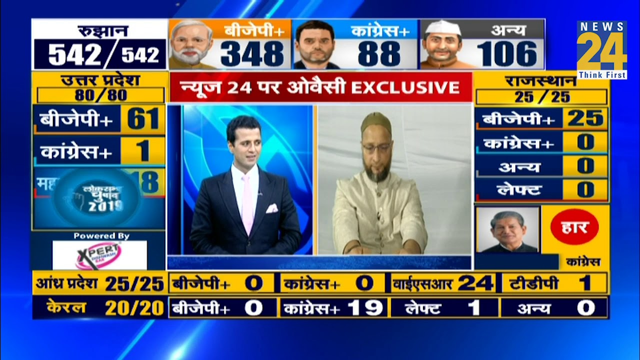 News 24 पर Owaisi Exclusive