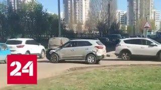 Неадекватный водитель протаранил 12 машин в Набережных Челнах - Россия 24