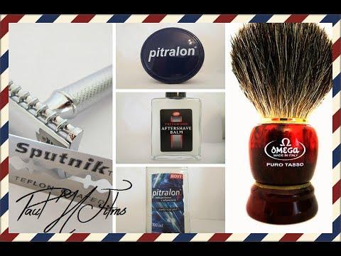 Muhle R41 DE Razor ~ Sputnik Blade ~ Pitralon Shaving Soap