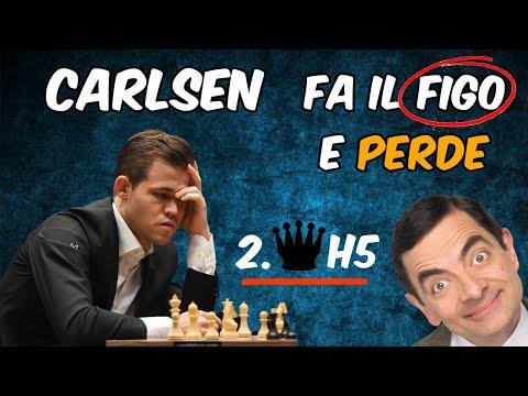 Carlsen fa il Figo e Perde (Matto del Barbiere!!) - Mattoscacco