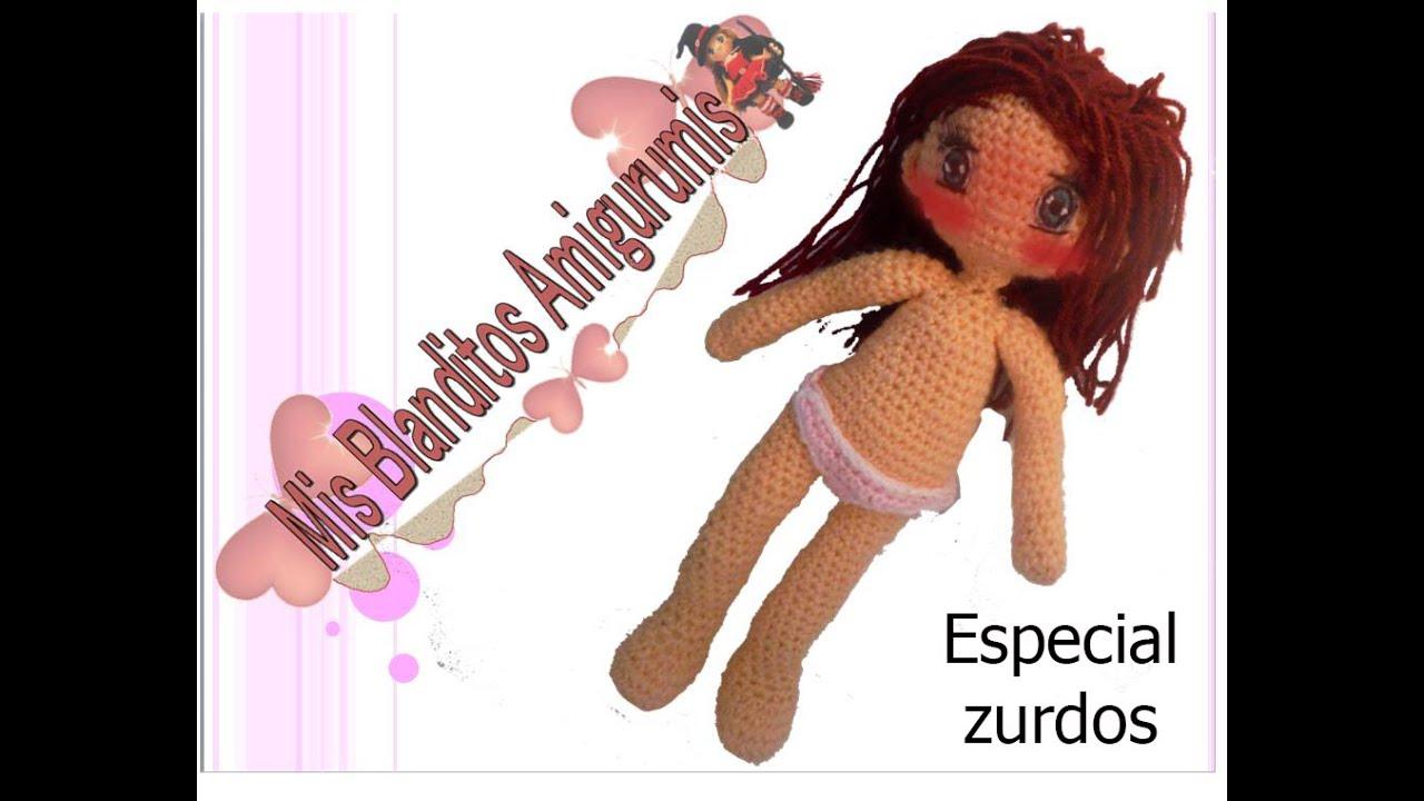 Tutorial crochet patrón braguitas muñeca Lilia amigurumi (zurdos ...