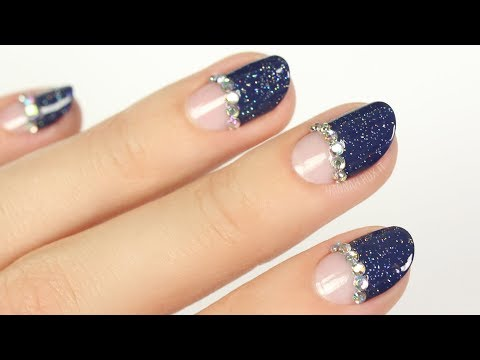 Blinged Party Glam Nails