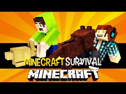 Minecraft Survival Ep.98 -  Cachorro e Coelho de Estimação !!