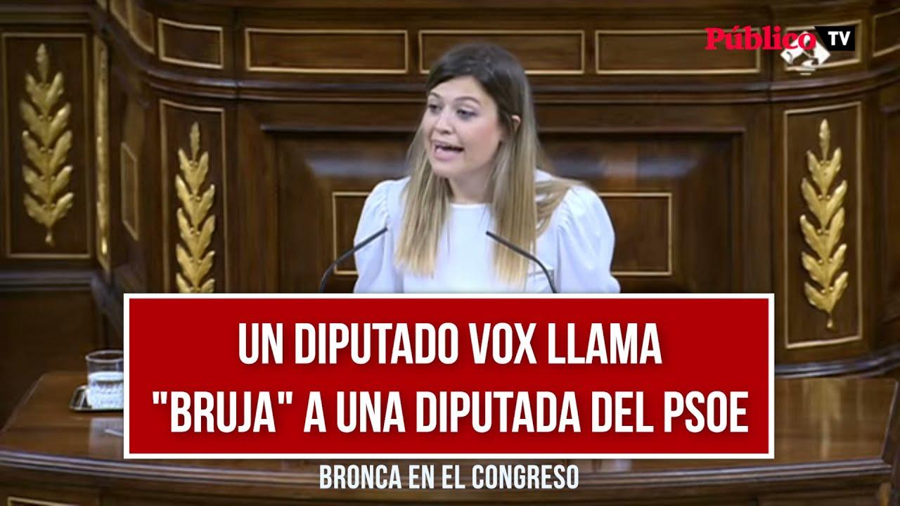 """Download Bronca en el Congreso después de que un diputado de Vox llame """"bruja"""" a una diputada del PSOE"""