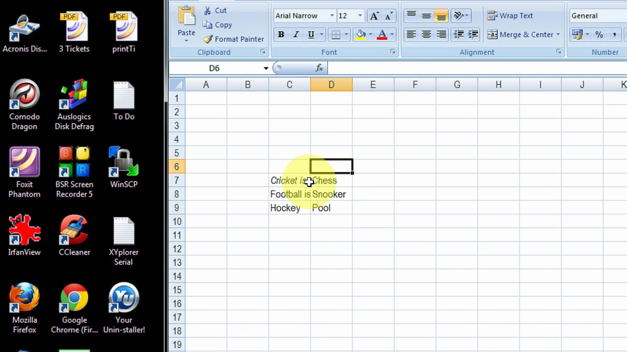 how to make two lines in one cell in excel