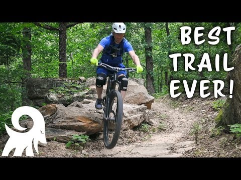 BEST TRAIL EVER! Mountain Biking at Fitzgerald Mountain in Springdale, AR