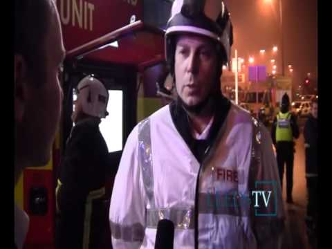 Leeds TV    Flash Firemen quick response to the Fire in Leeds Mill rescue 19 02 2011 on Vimeo