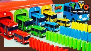 Мощные большегрузные автомобили l Автобусы Тайо и волшебный гараж домино! l Приключения Тайо