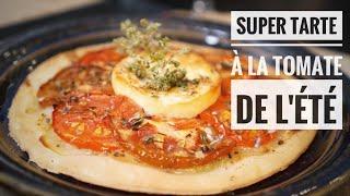 Recette de tarte fine tomate chèvre parfaite en été facile et rapide